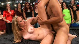 Cfnm amateurs sucking strippers cock at party 4